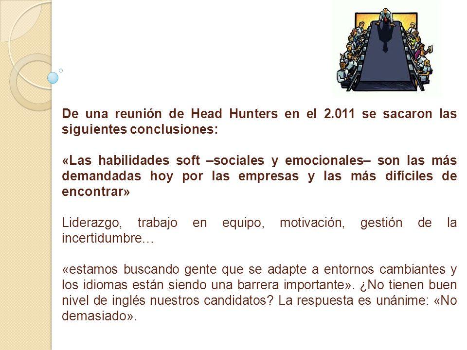De una reunión de Head Hunters en el 2