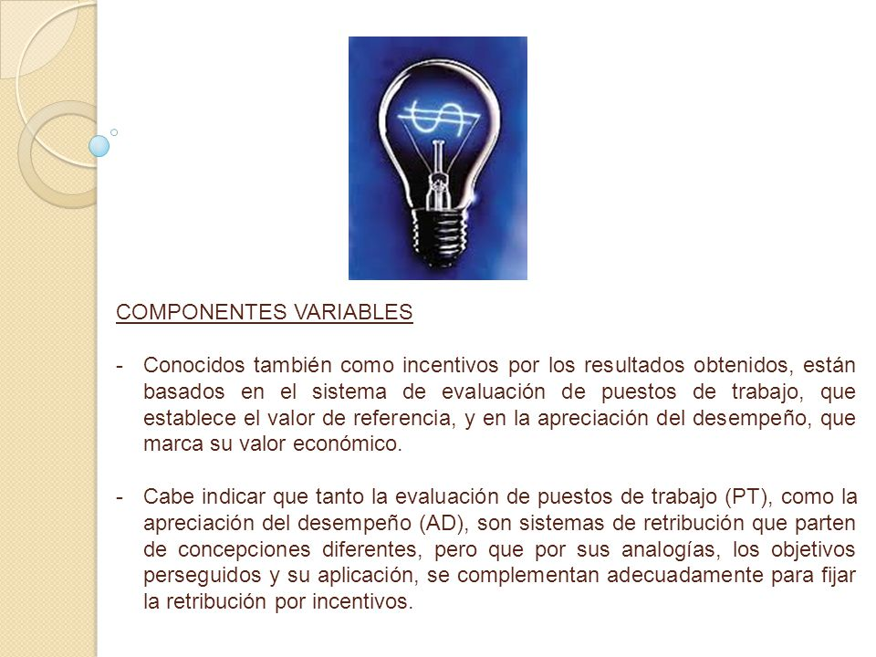 COMPONENTES VARIABLES