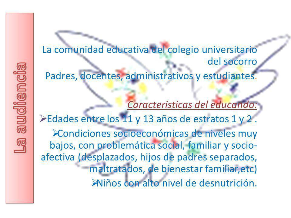 La comunidad educativa del colegio universitario del socorro