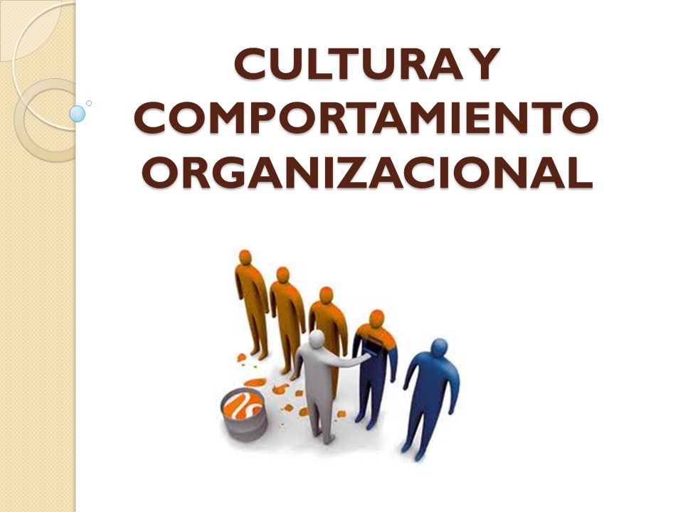 CULTURA Y COMPORTAMIENTO ORGANIZACIONAL