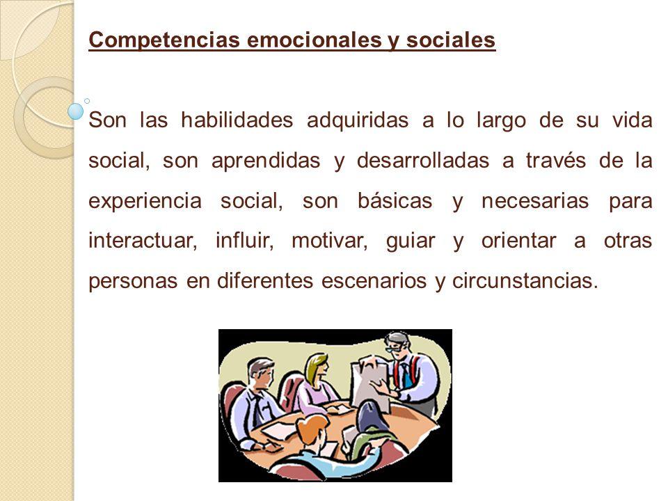 Competencias emocionales y sociales