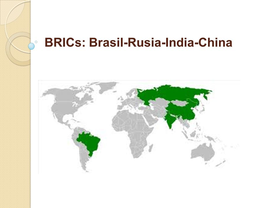 BRICs: Brasil-Rusia-India-China