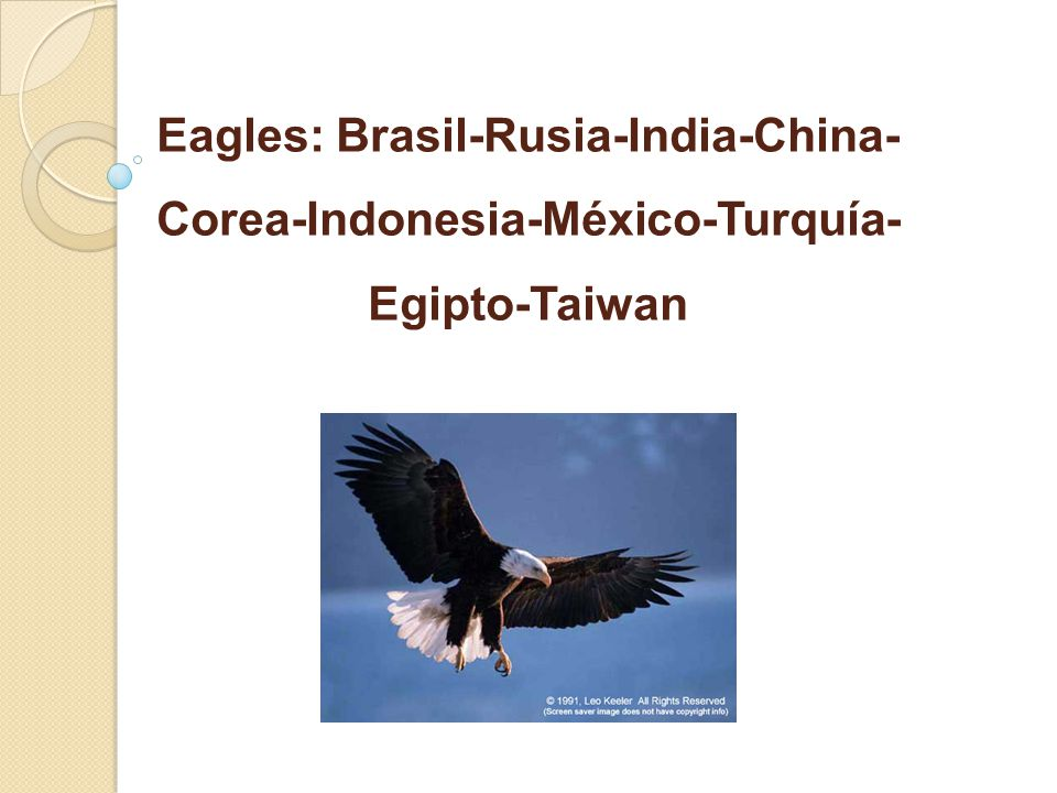 Eagles: Brasil-Rusia-India-China-Corea-Indonesia-México-Turquía-Egipto-Taiwan