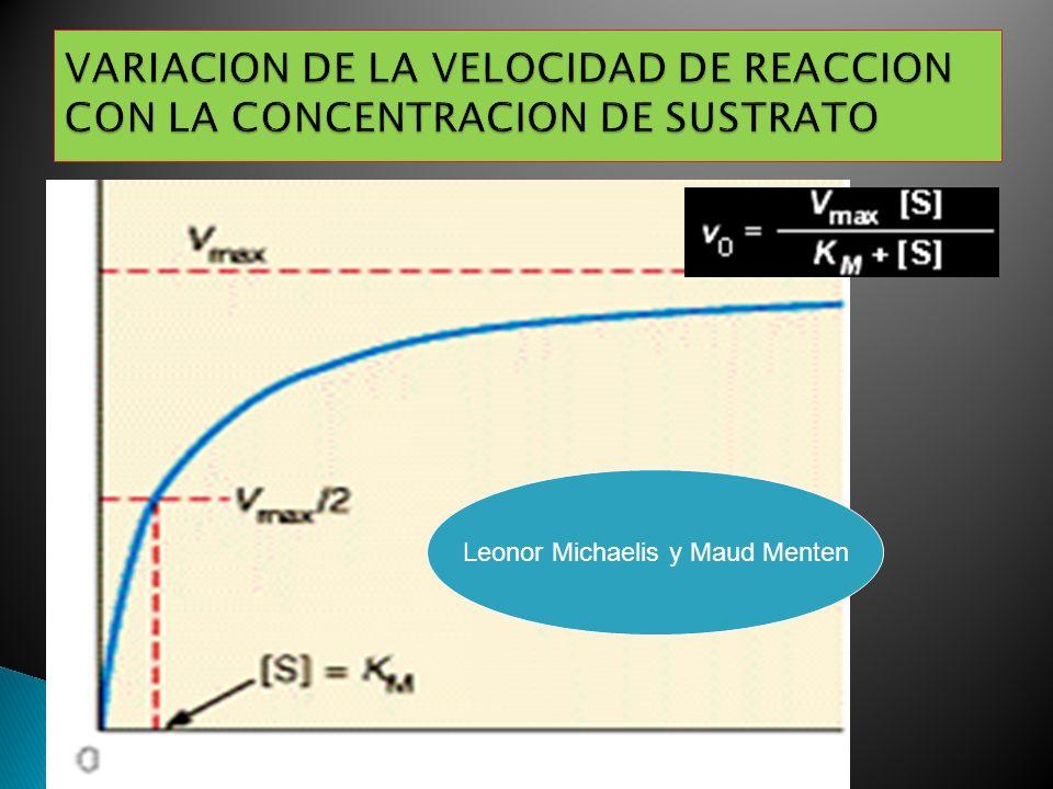 VARIACION DE LA VELOCIDAD DE REACCION CON LA CONCENTRACION DE SUSTRATO