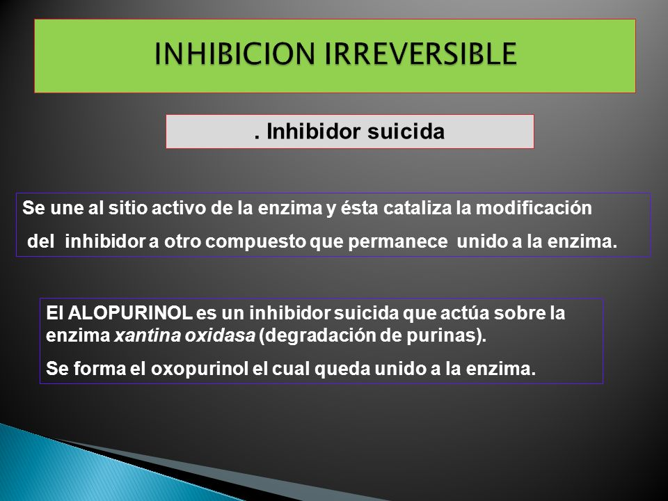 INHIBICION IRREVERSIBLE