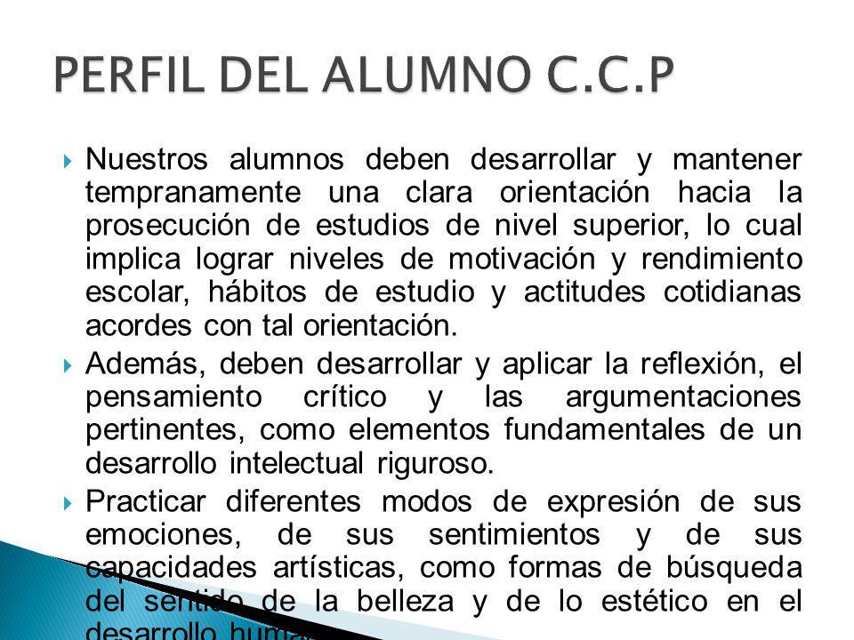 PERFIL DEL ALUMNO C.C.P