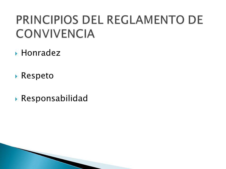 PRINCIPIOS DEL REGLAMENTO DE CONVIVENCIA