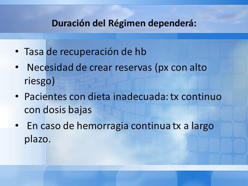 Duración del Régimen dependerá: