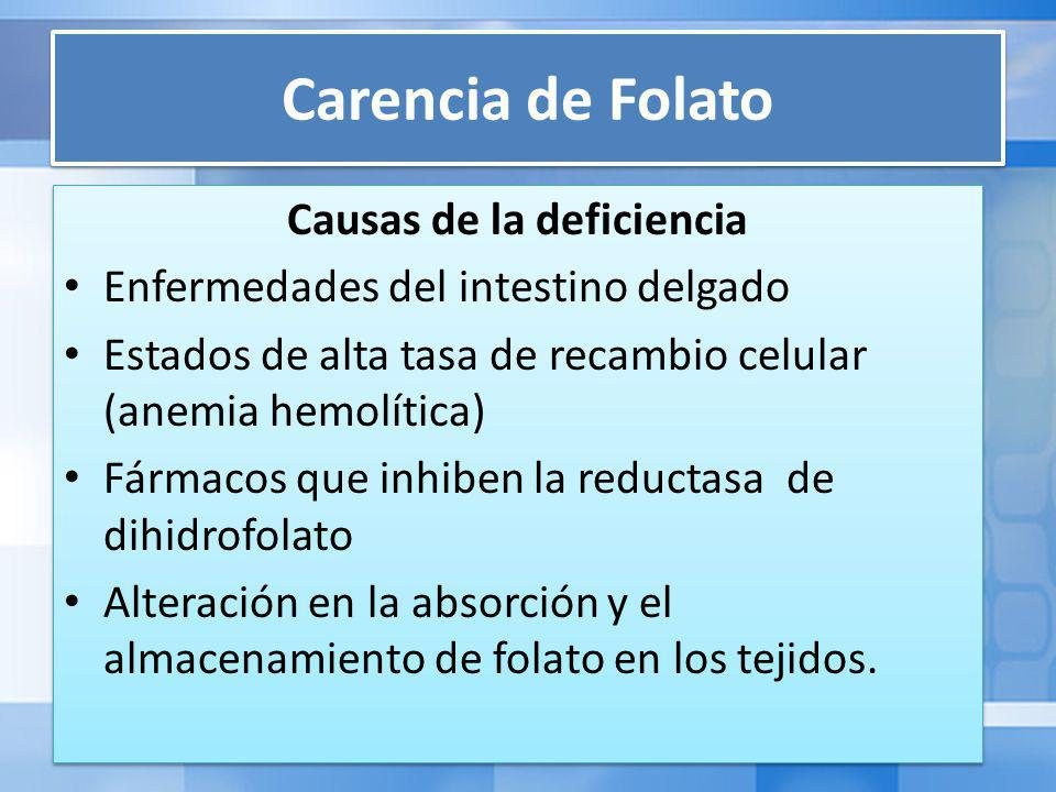 Causas de la deficiencia
