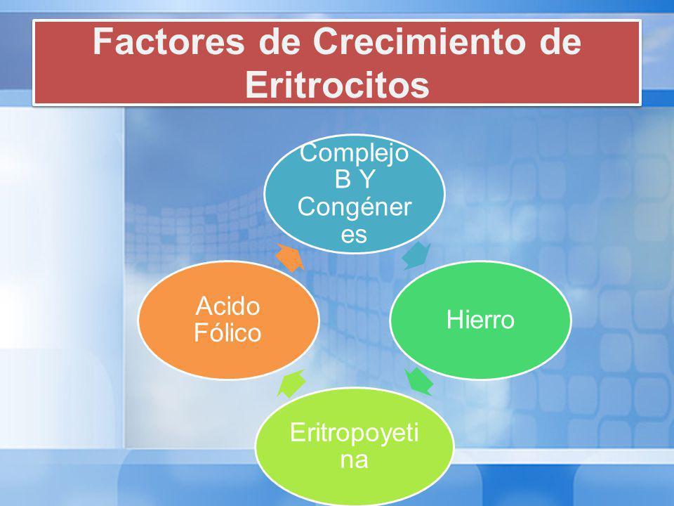 Factores de Crecimiento de Eritrocitos