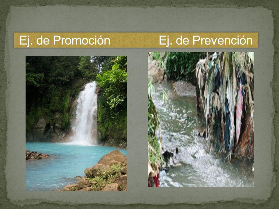 Ej. de Promoción Ej. de Prevención