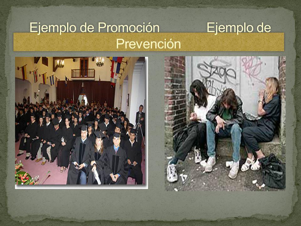 Ejemplo de Promoción Ejemplo de Prevención