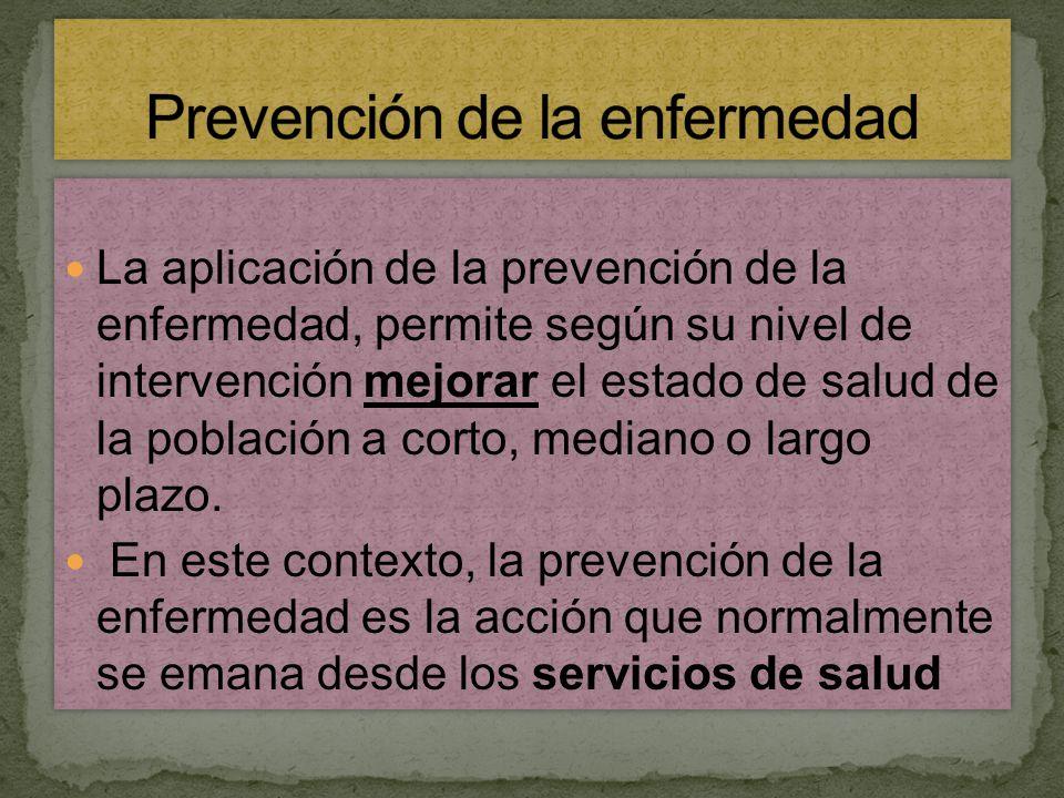 Prevención de la enfermedad