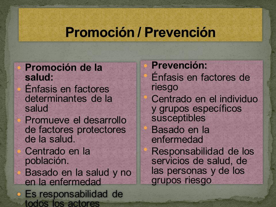 Promoción / Prevención