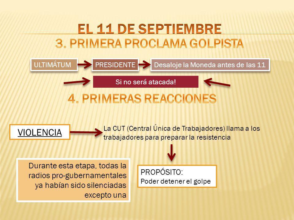 3. PRIMERA PROCLAMA GOLPISTA