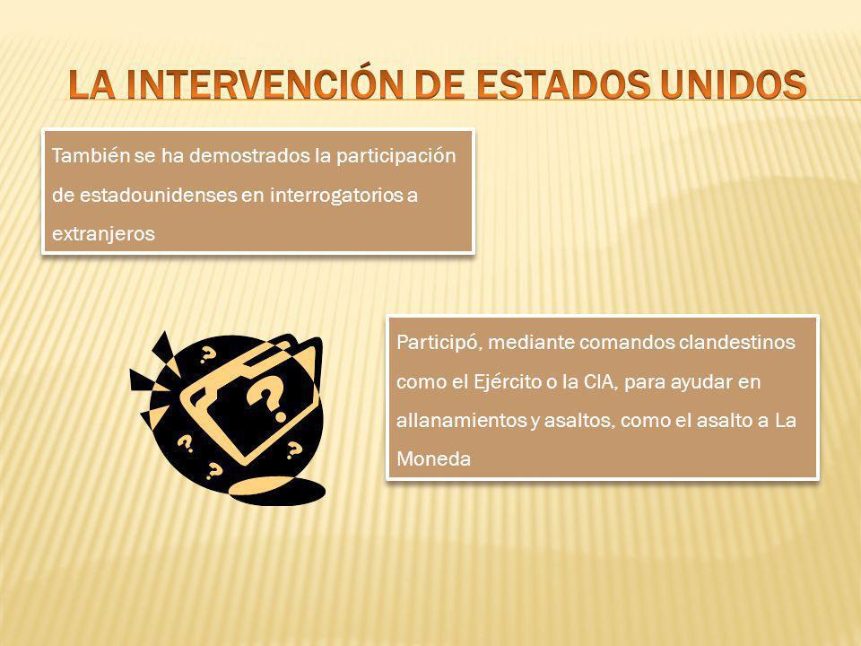 LA INTERVENCIÓN DE ESTADOS UNIDOS