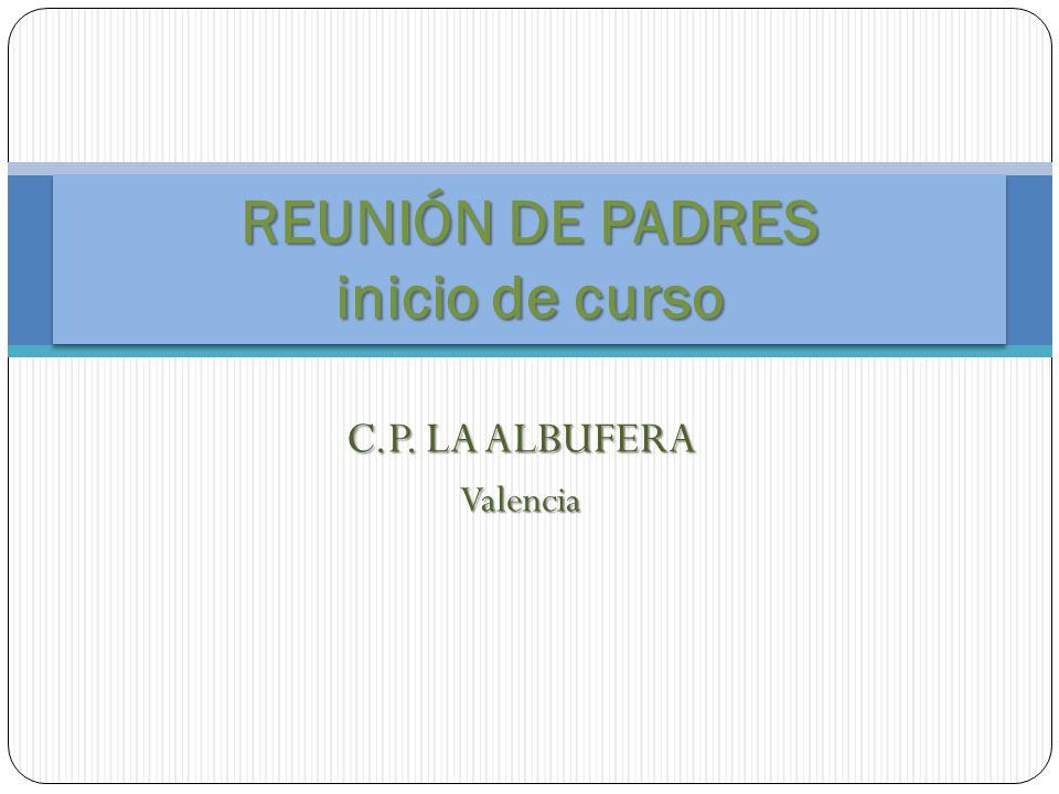 REUNIÓN DE PADRES inicio de curso