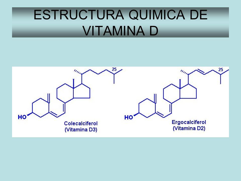 ESTRUCTURA QUIMICA DE VITAMINA D