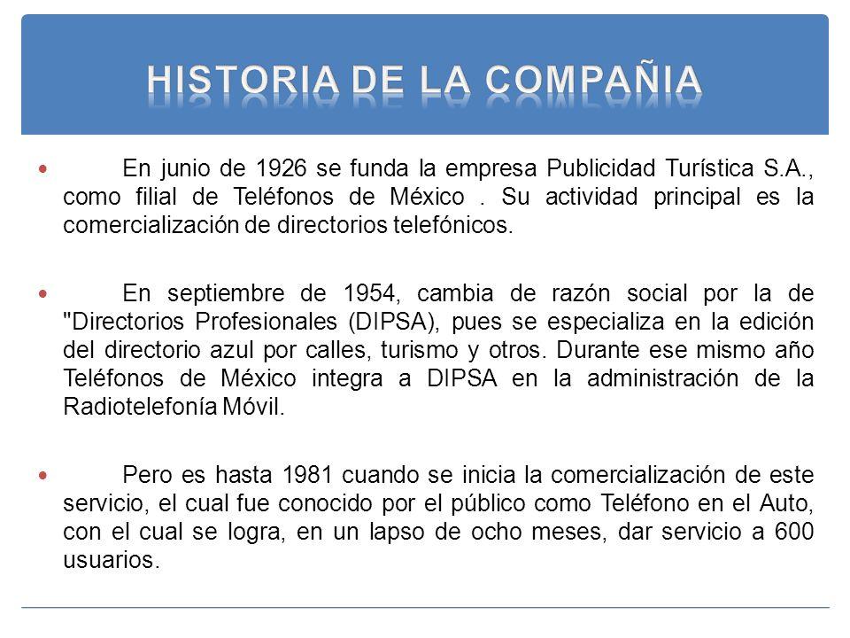 HISTORIA DE LA COMPAÑIA