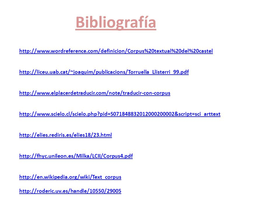 Bibliografía http://www. wordreference