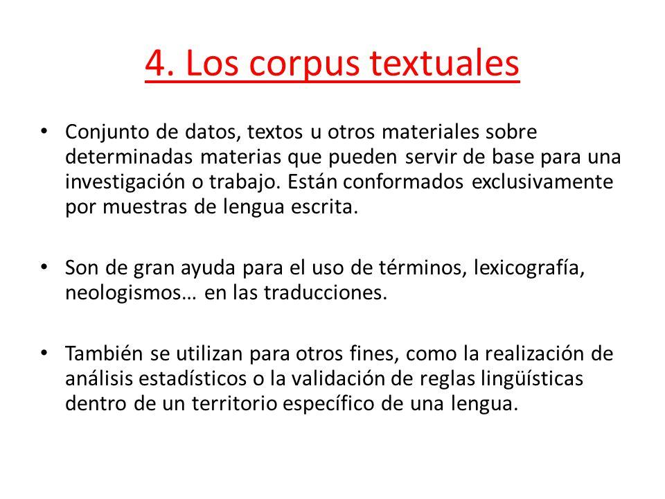 4. Los corpus textuales