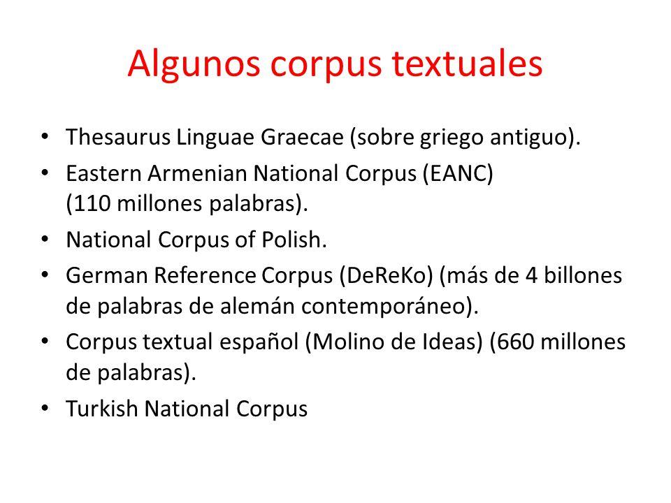 Algunos corpus textuales