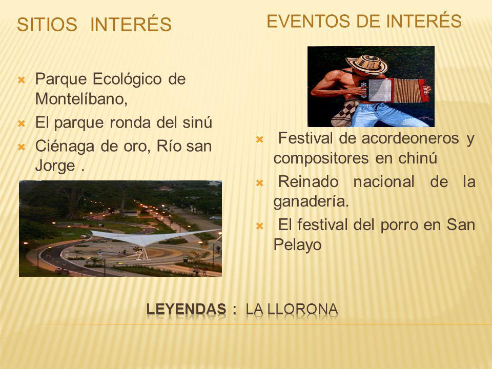 Sitios interés Eventos de interés Parque Ecológico de Montelíbano,