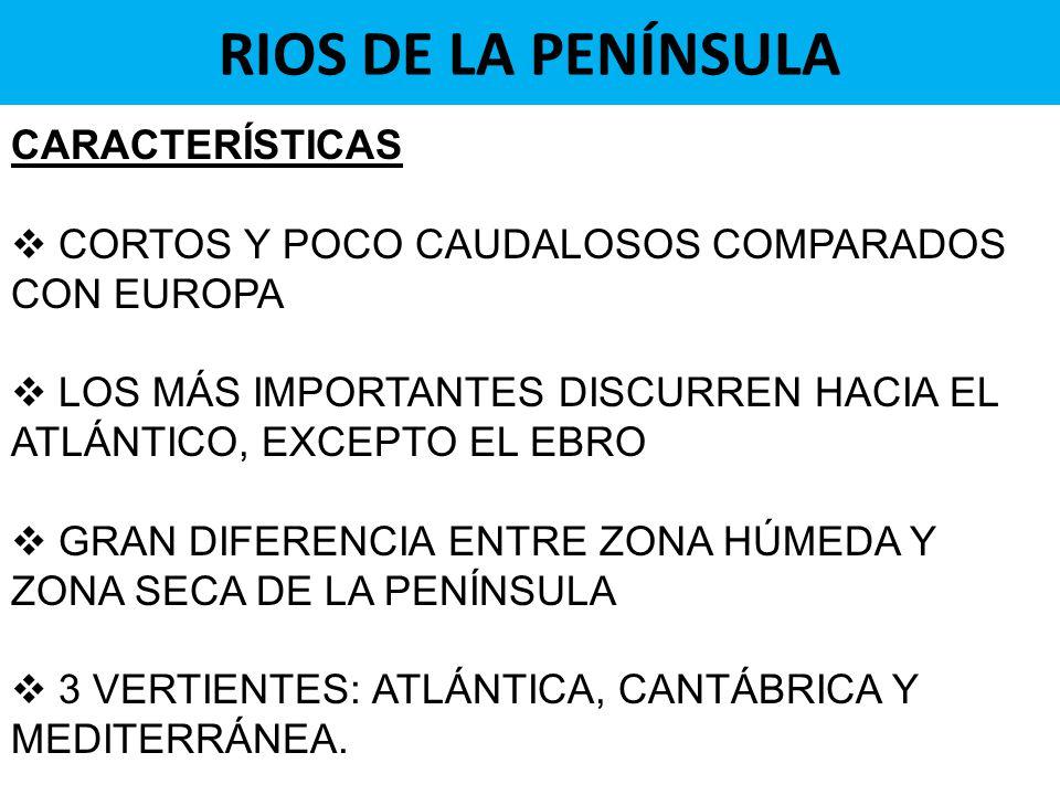 RIOS DE LA PENÍNSULA CARACTERÍSTICAS