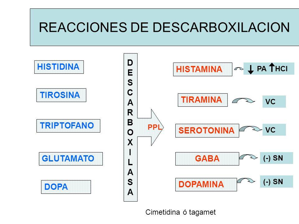 REACCIONES DE DESCARBOXILACION