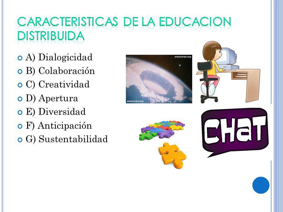 CARACTERISTICAS DE LA EDUCACION DISTRIBUIDA