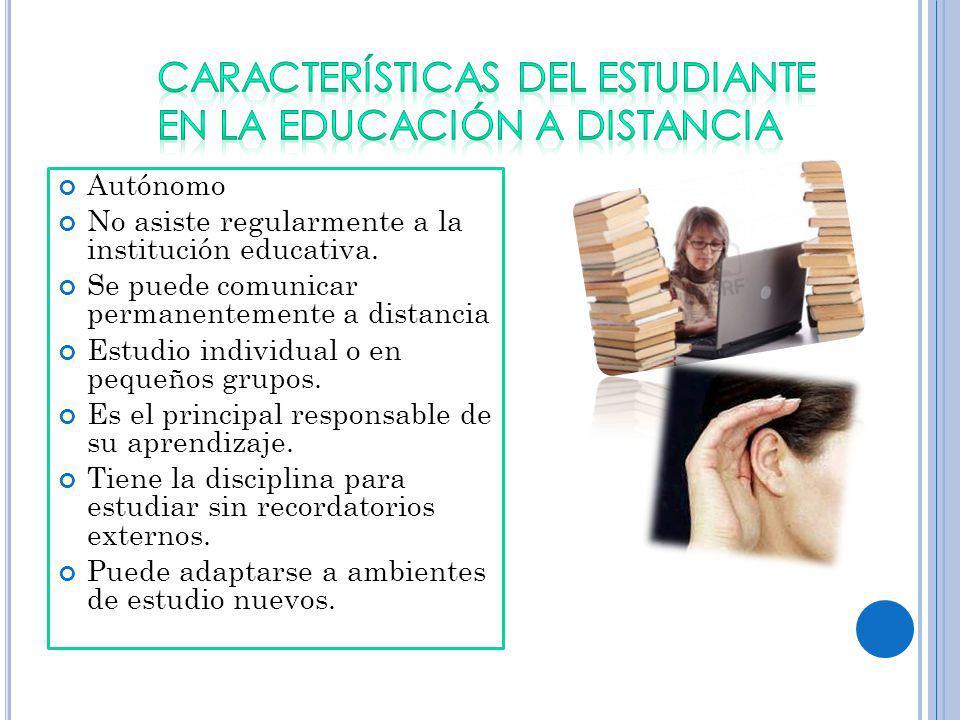 CARACTERÍSTICAS DEL ESTUDIANTE EN LA EDUCACIÓN A DISTANCIA