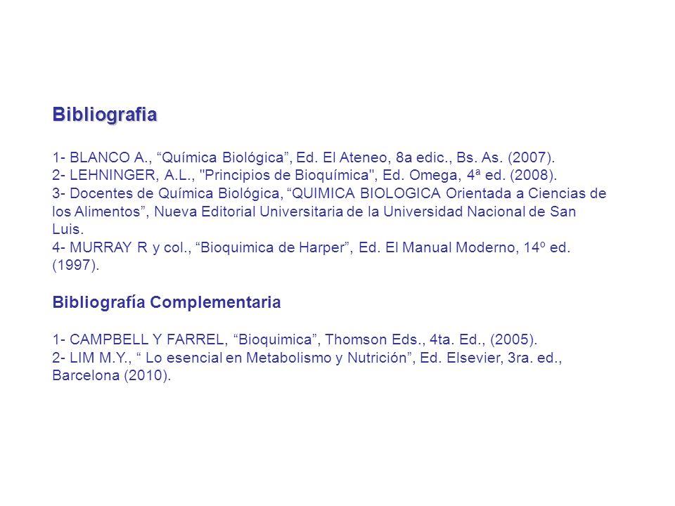 Bibliografia Bibliografía Complementaria