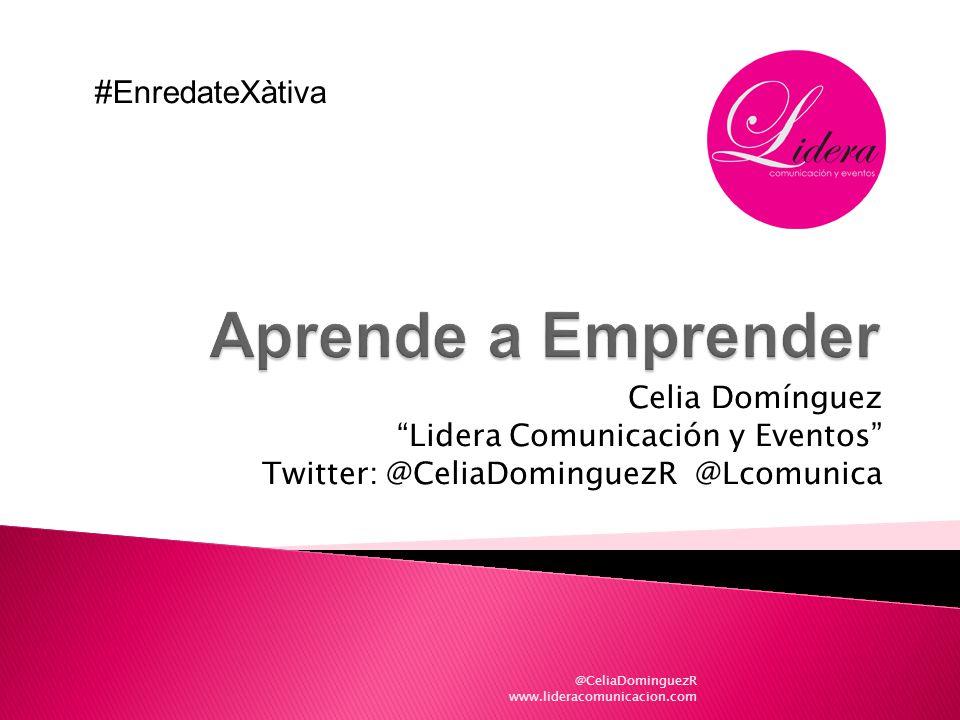Aprende a Emprender #EnredateXàtiva Celia Domínguez