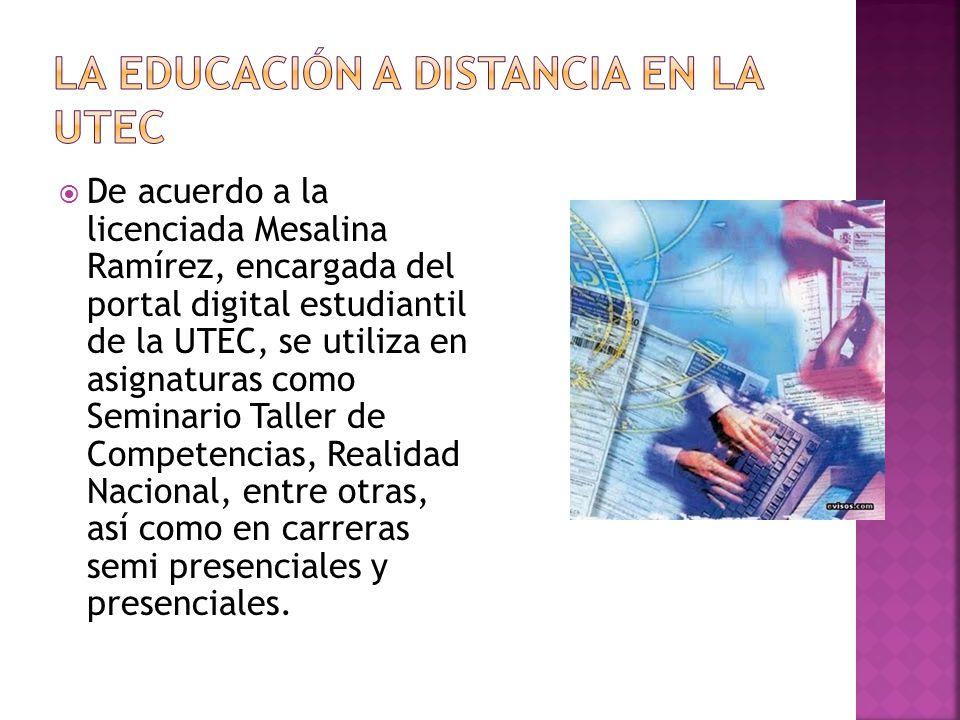 La educación a distancia en la UTEC