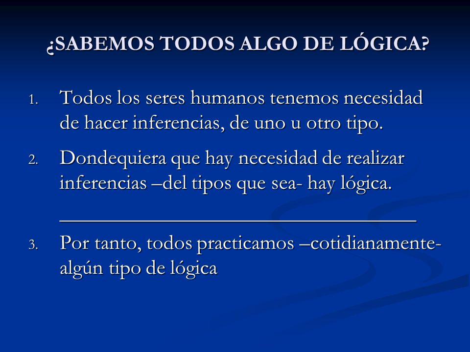 ¿SABEMOS TODOS ALGO DE LÓGICA