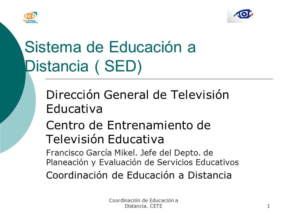 Sistema de Educación a Distancia ( SED)