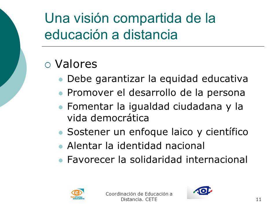 Una visión compartida de la educación a distancia