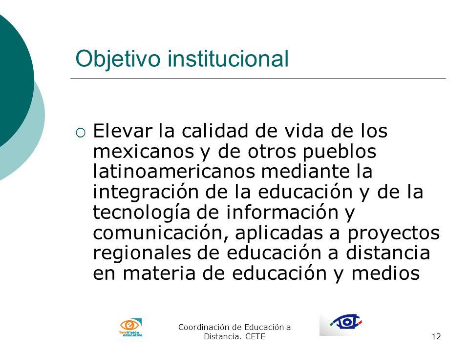 Objetivo institucional