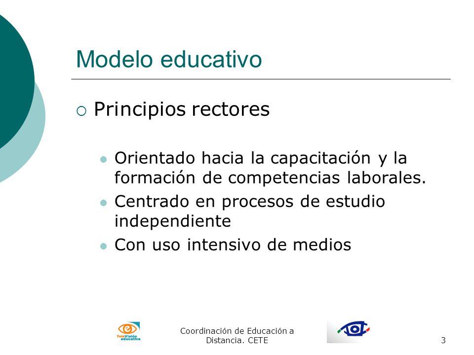 Coordinación de Educación a Distancia. CETE