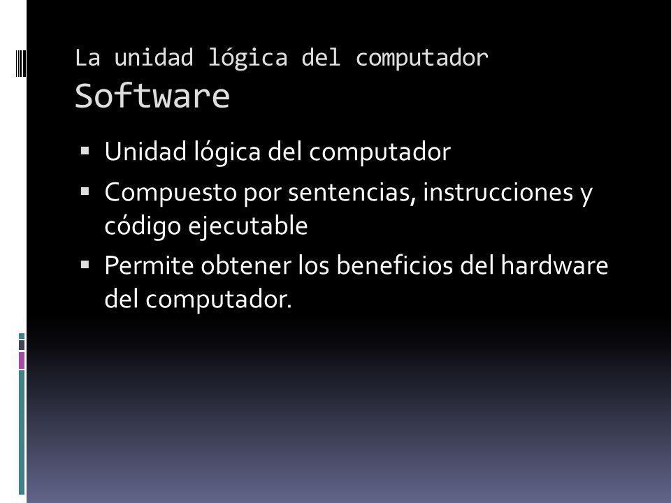 La unidad lógica del computador Software