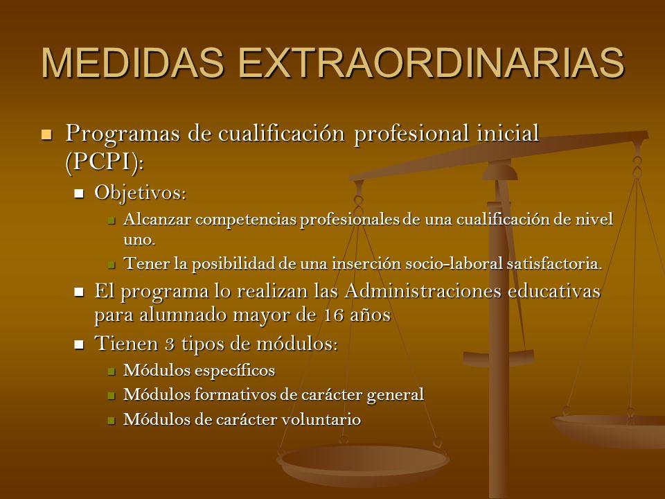 MEDIDAS EXTRAORDINARIAS