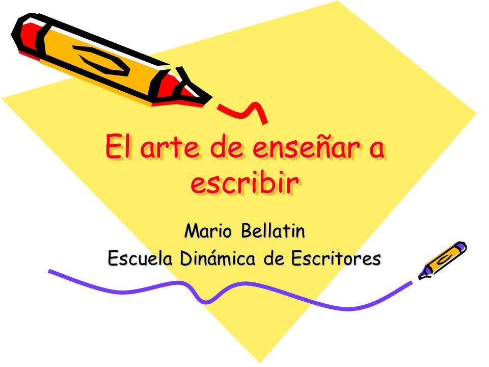 El arte de enseñar a escribir