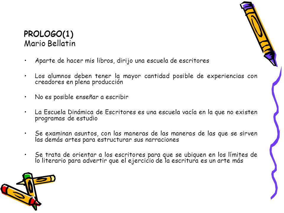 PROLOGO(1) Mario Bellatin