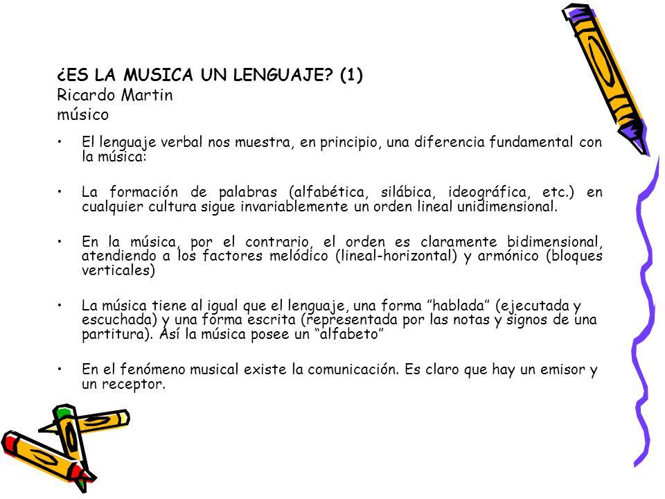 ¿ES LA MUSICA UN LENGUAJE (1) Ricardo Martin músico