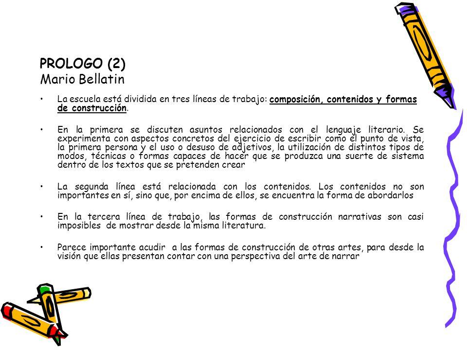 PROLOGO (2) Mario Bellatin