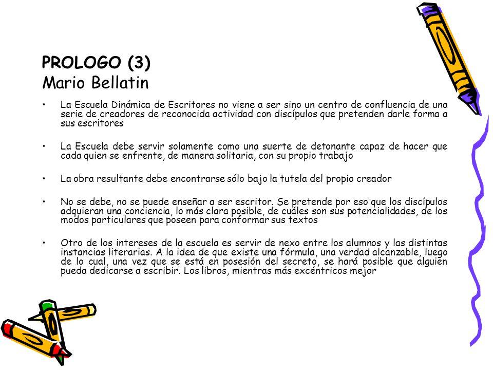 PROLOGO (3) Mario Bellatin