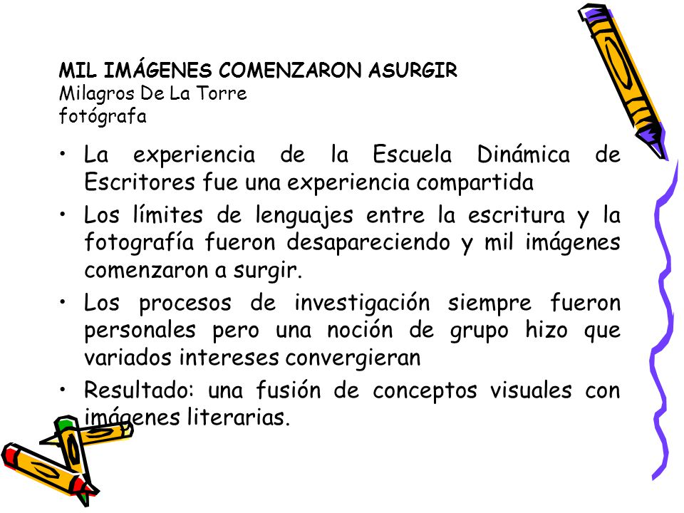 MIL IMÁGENES COMENZARON ASURGIR Milagros De La Torre fotógrafa