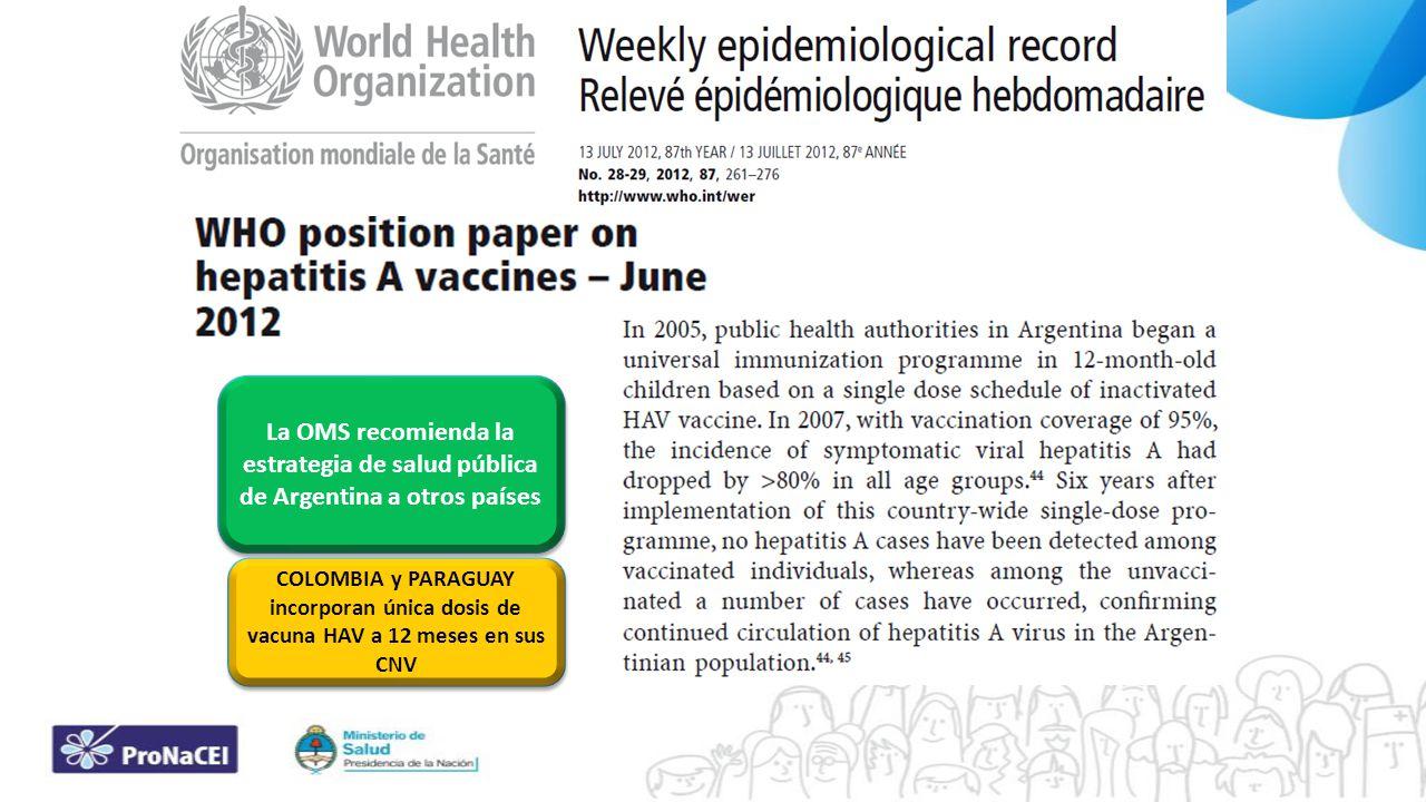 La OMS recomienda la estrategia de salud pública de Argentina a otros países