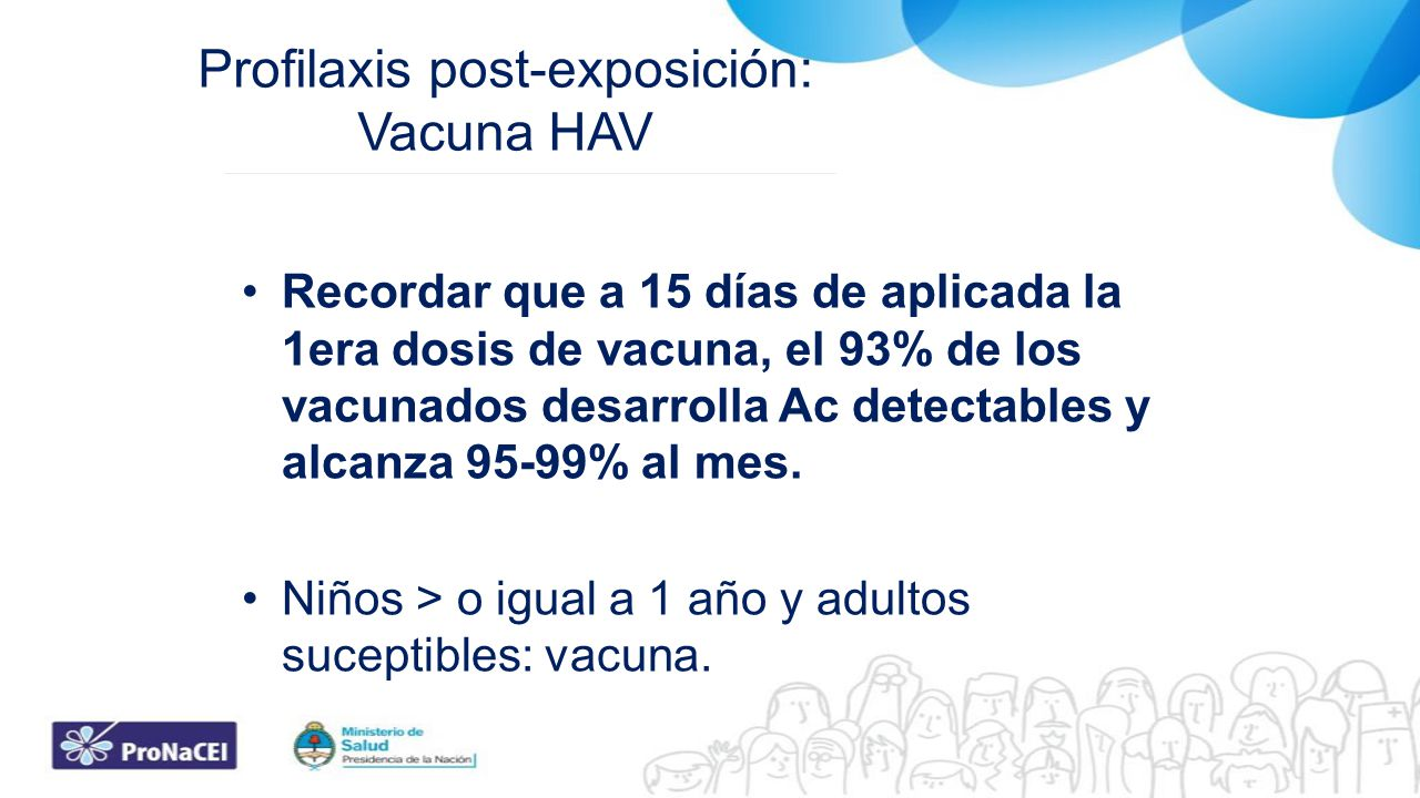 Profilaxis post-exposición: Vacuna HAV