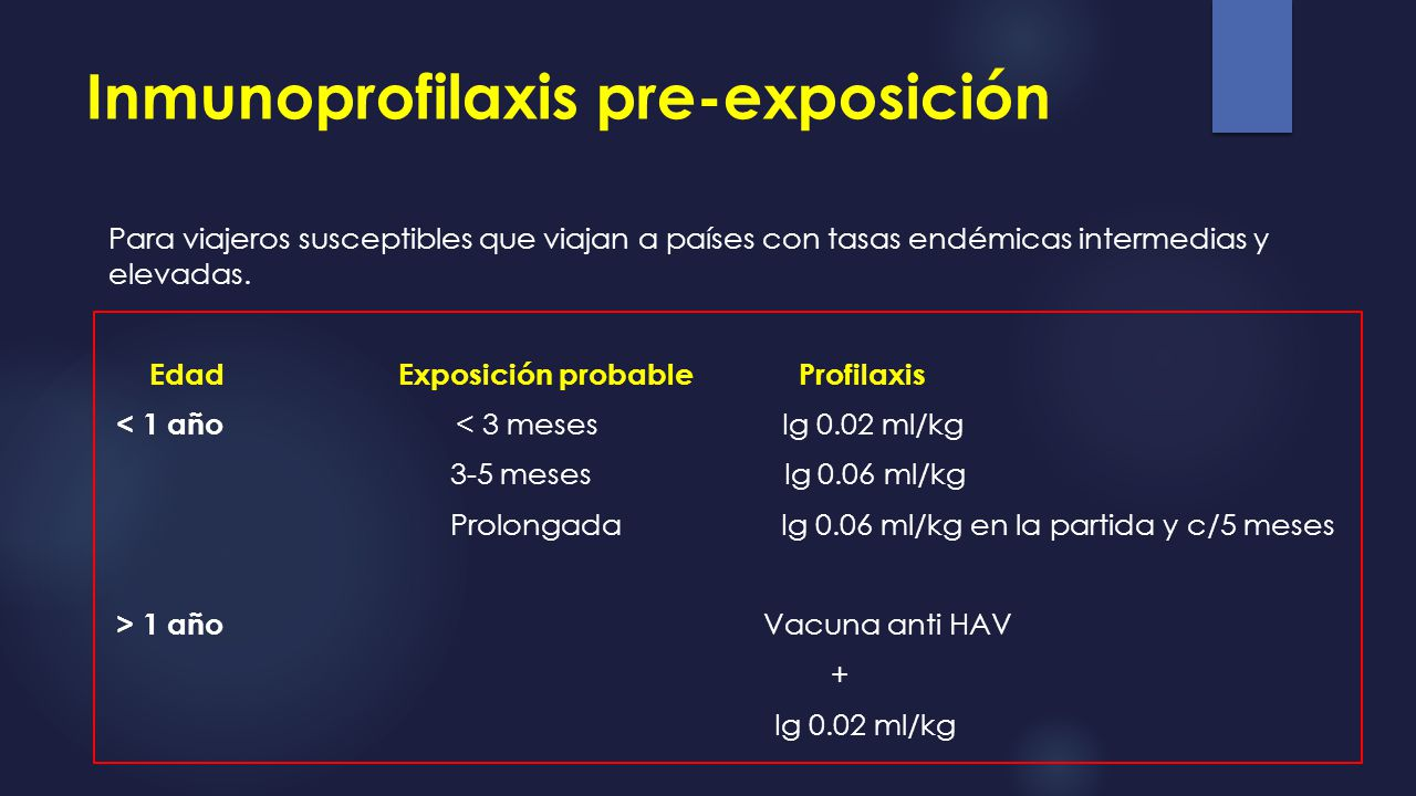 Inmunoprofilaxis pre-exposición